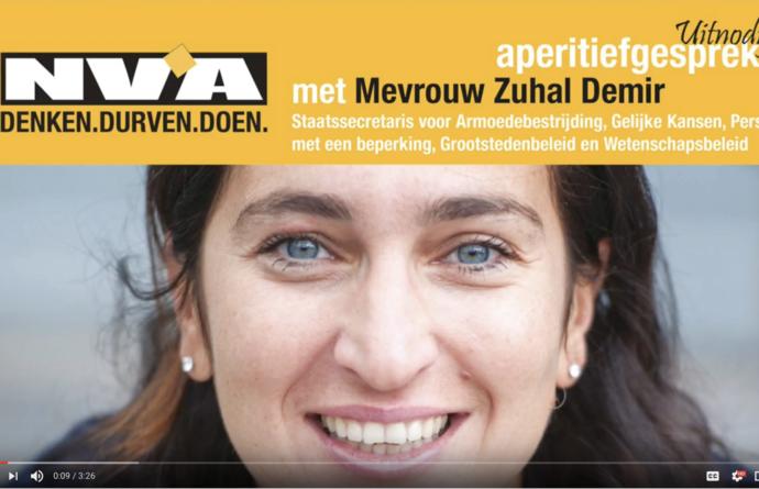 Aperitiefgesprek N-VA Sint-Niklaas met Staatssecretaris Zuhal Demir