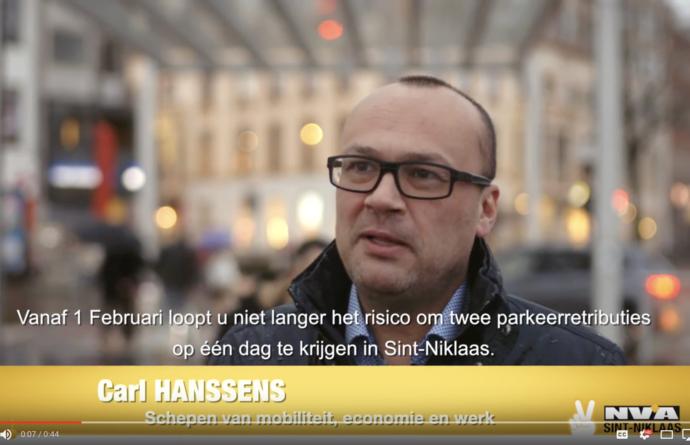 Nieuw parkeerbeleid uitgelegd door schepen Carl Hanssens